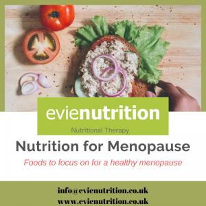 Nutriton for menopause