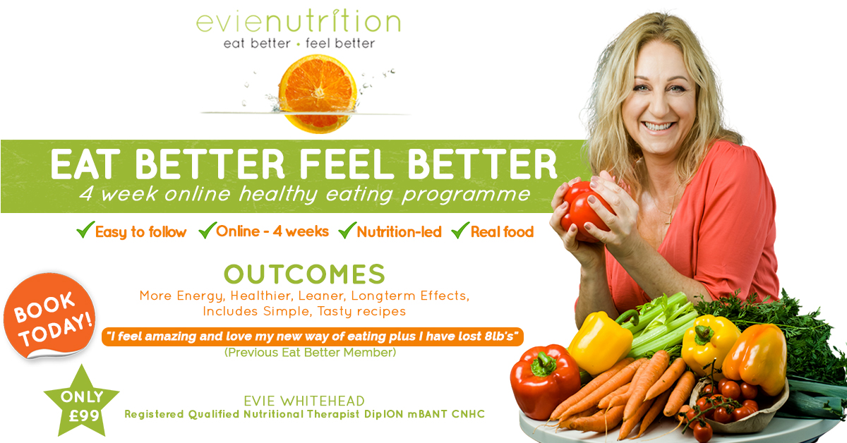 Eat Better Feel Better online healthy eating programme with Evie