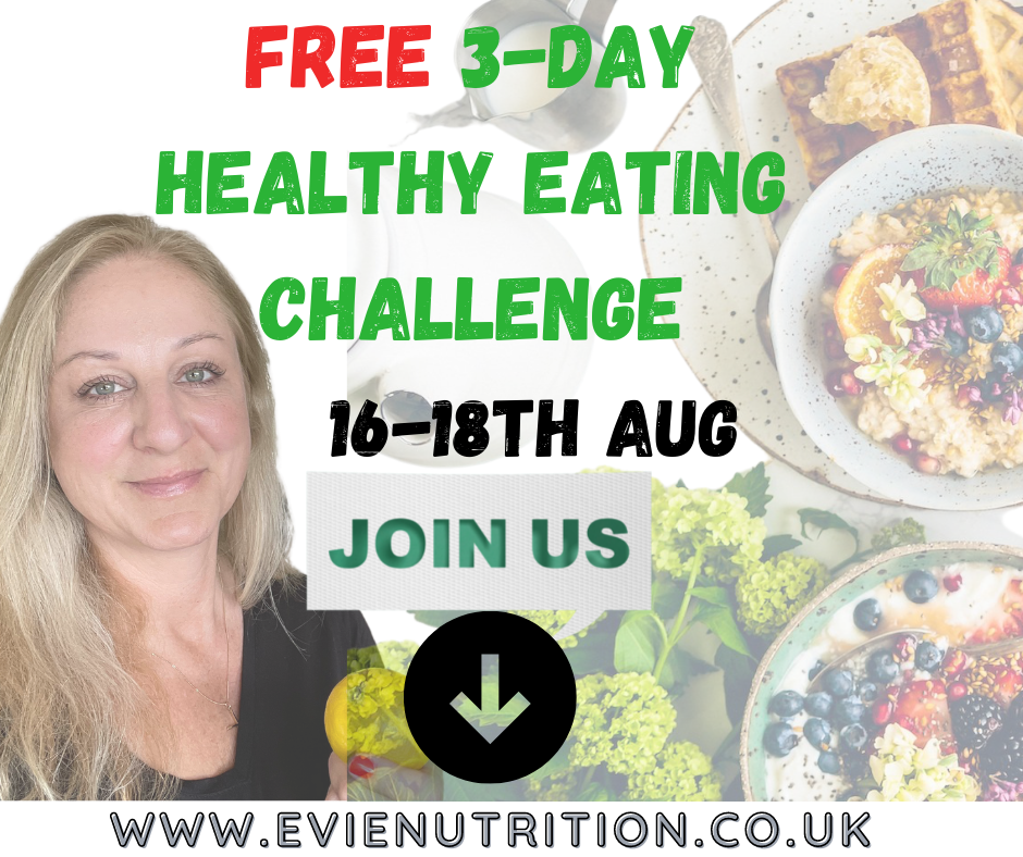3-day Healthy Eating online programme with Evie Nutrition for weight loss
